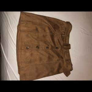 forever 21 faux suede skirt